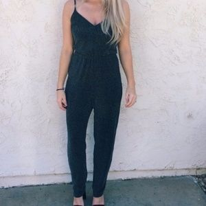 H&M Divided Metallic Shimmer Jumpsuit XS